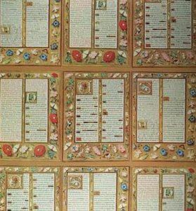 Illuminated Script and Flowers