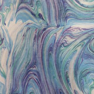 Vibrant blue, purple and white marble like design