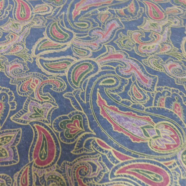 Rich Red & Pink Paisley on Navy background
